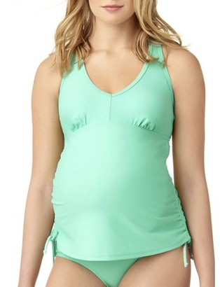 Catalina Maternity Tankini Swimsuit Swimsuit Top With Ruched Sides & Adjustable Ties