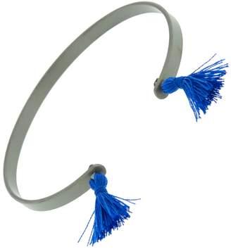 Ileana Makri EYE M by Grey Titan Cuff Bracelets - Blue Tassels