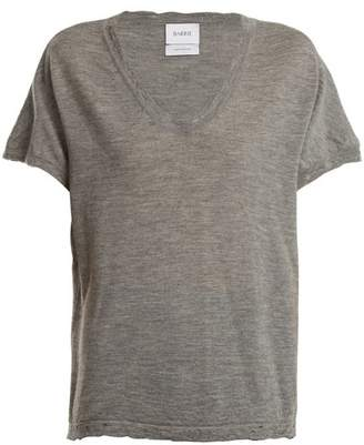 Barrie Sweet Eighteen Distressed Cashmere T Shirt - Womens - Grey