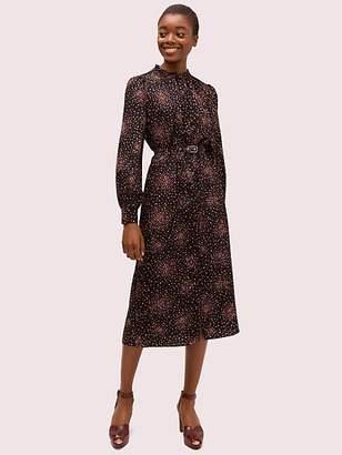 Kate Spade Disco Dots Ruffle Shirtdress, Black - Size 0
