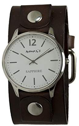 Nemesis Women's 'Sapphire' Quartz Stainless Steel and Leather Casual Watch