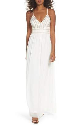 LuLu*s Glamorous Gala Embellished Maxi Dress