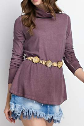 Easel Mauve Long Sleeve