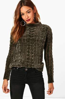 boohoo Cable Chenille Jumper