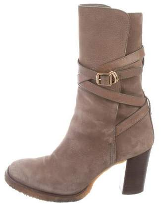 a29166417 Tory Burch Brown Suede Women s Boots - ShopStyle