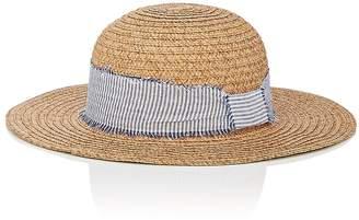Barneys New York WOMEN'S STRIPED-BAND STRAW HAT