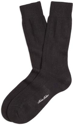 Brooks Brothers Ribbed Cashmere Crew Socks
