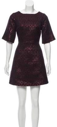 Alice + Olivia Brocade Mini Dress