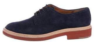 Celine Suede Lace-Up Oxfords