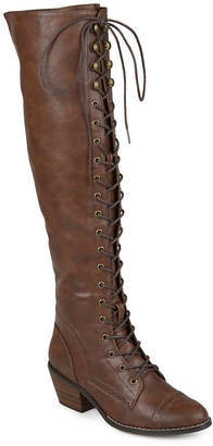 Journee Collection Bazel Wide Calf Over The Knee Combat Boot - Women's