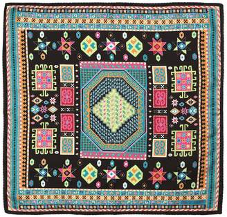 Etro Ethnic Printed Silk Pocket Square