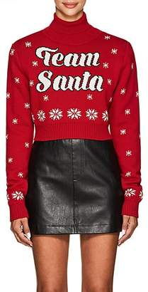 "Philosophy di Lorenzo Serafini Women's ""Team Santa"" Wool Crop Sweater - Red"