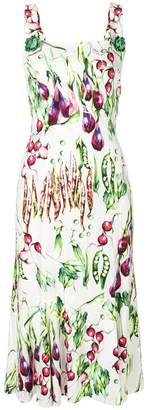 Dolce & Gabbana vegetable print midi dress
