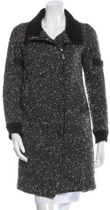 CNC Costume National Bouclé Wool Coat