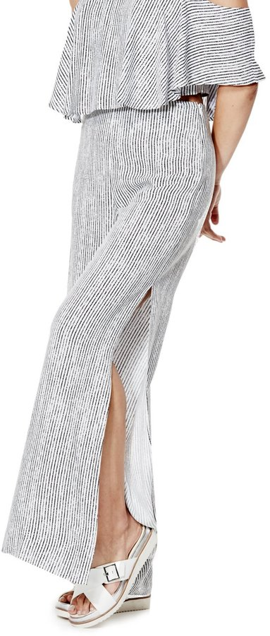 GUESS Women's Jen High-Rise Side-Slit Palazzo Pants