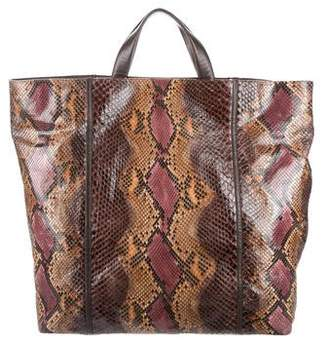 Devi Kroell Python & Leather Satchel