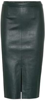 STOULS Exclusive to Mytheresa Carmen leather midi skirt