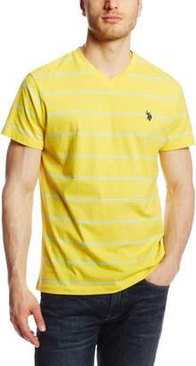 U.S. Polo Assn. Men's Stripe V Neck T-Shirt