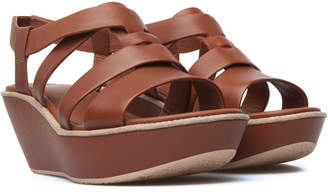Camper Damas Leather T-Strap Sandal
