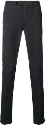 Department 5 patterned straight leg trousers