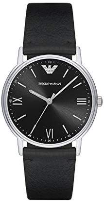 Emporio Armani Men's 'Kappa' Quartz Stainless Steel and Leather Casual Watch
