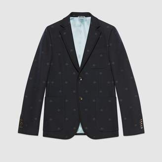 Gucci Monaco striped jacket with bees