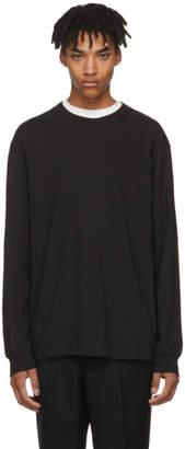 Alexander Wang Black Long Sleeve High Twist T-Shirt