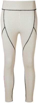 Fendi fitted check logo leggings