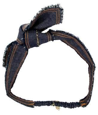 Colette Malouf Swarovski-Embellished Denim Headband