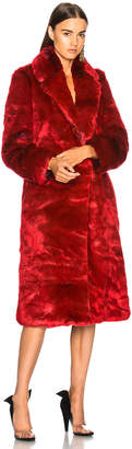 Calvin Klein Long Faux Fur Coat