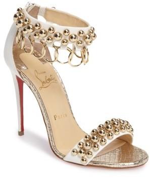 Women's Christian Louboutin Gypsandal Ankle Cuff Sandal $1,045 thestylecure.com