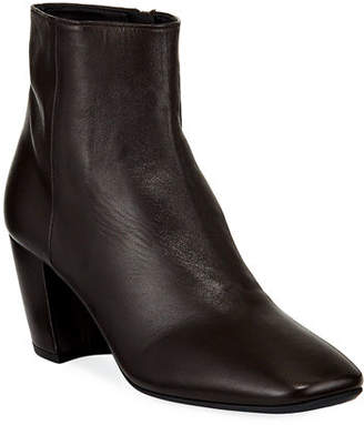 Prada Smooth Leather Block-Heel Booties