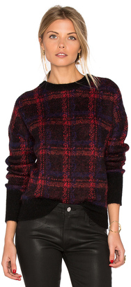 Current/Elliott The Plaid Crew Neck Sweater $298 thestylecure.com