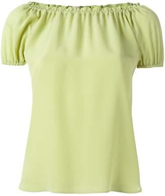 Etro pleated trim blouse