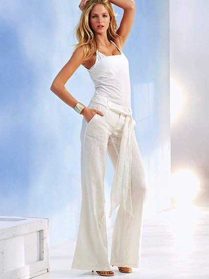 Victoria's Secret The Marisa Fit Belted Linen Trouser