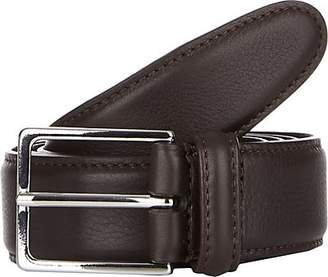 Barneys New York Men's Leather Belt - Dk. brown