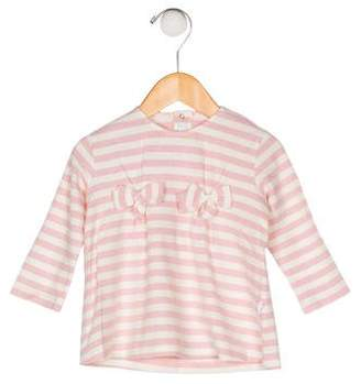 Il Gufo Girls' Striped Long Sleeve Top