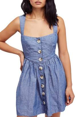 Free People Carolina Chambray Minidress