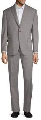 Lauren Ralph Lauren Birdseye Taupe Slim-Fit Two-Piece Suit