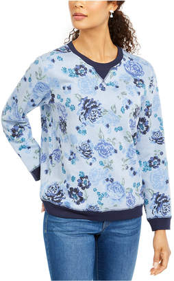 Karen Scott Petite Printed Crewneck Sweatshirt