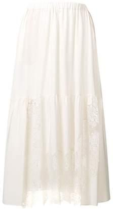 Stella McCartney lace panel midi skirt