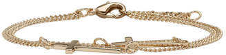 DSQUARED2 Gold Double Cross Bracelet