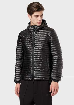 Emporio Armani Technical Fabric Down Jacket With Hood