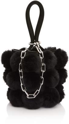 Alexander Wang Mini Roxy Fur Pompom Bag