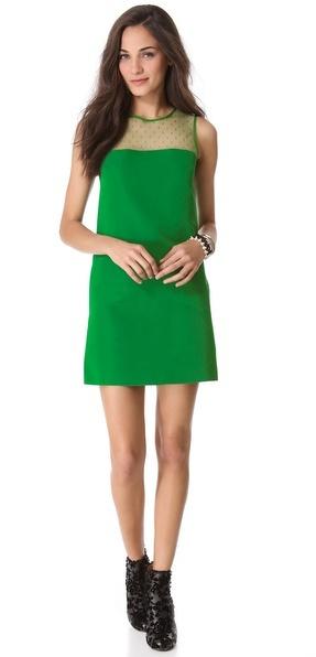 RED Valentino Faille Point d'Esprit Dress