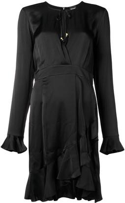 Just Cavalli wrap around frill dress