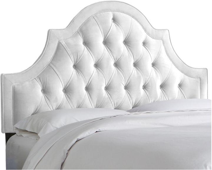 Skyline Furniture Harvey Tufted Headboard, White Velvet