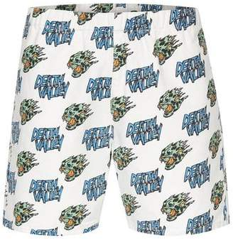 Topman Mens PRESENTS: FELICITY MARSHALL White Skull Motif Pull On Shorts