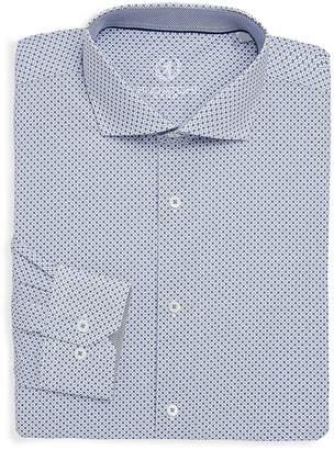 Bugatchi Men's Printed Cotton Dress Shirt