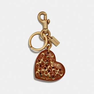 Coach Signature Heart Bag Charm